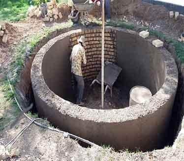 ساخت استخر با آجر